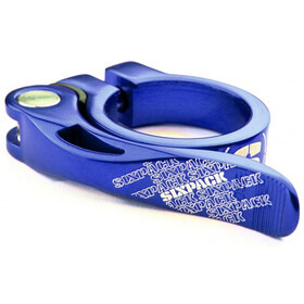 Sixpack Menace Saddle Clamp Ø34,9mm, blue